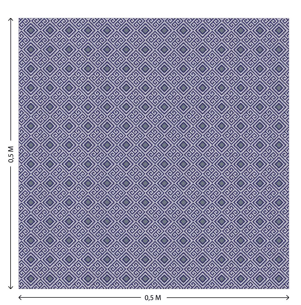 Tecido Tricoline Estampado Poliana 2801 V.1 - 1,50m de Largura