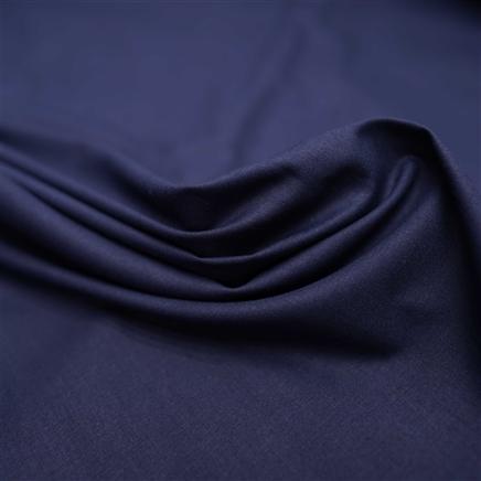 Tecido Tricoline Liso Elastano Azul Marinho  - 1,50 m de  Largura