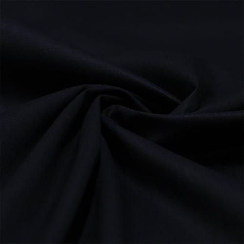 Tecido Tricoline Liso Elastano Preto  - 1,50 m de  Largura