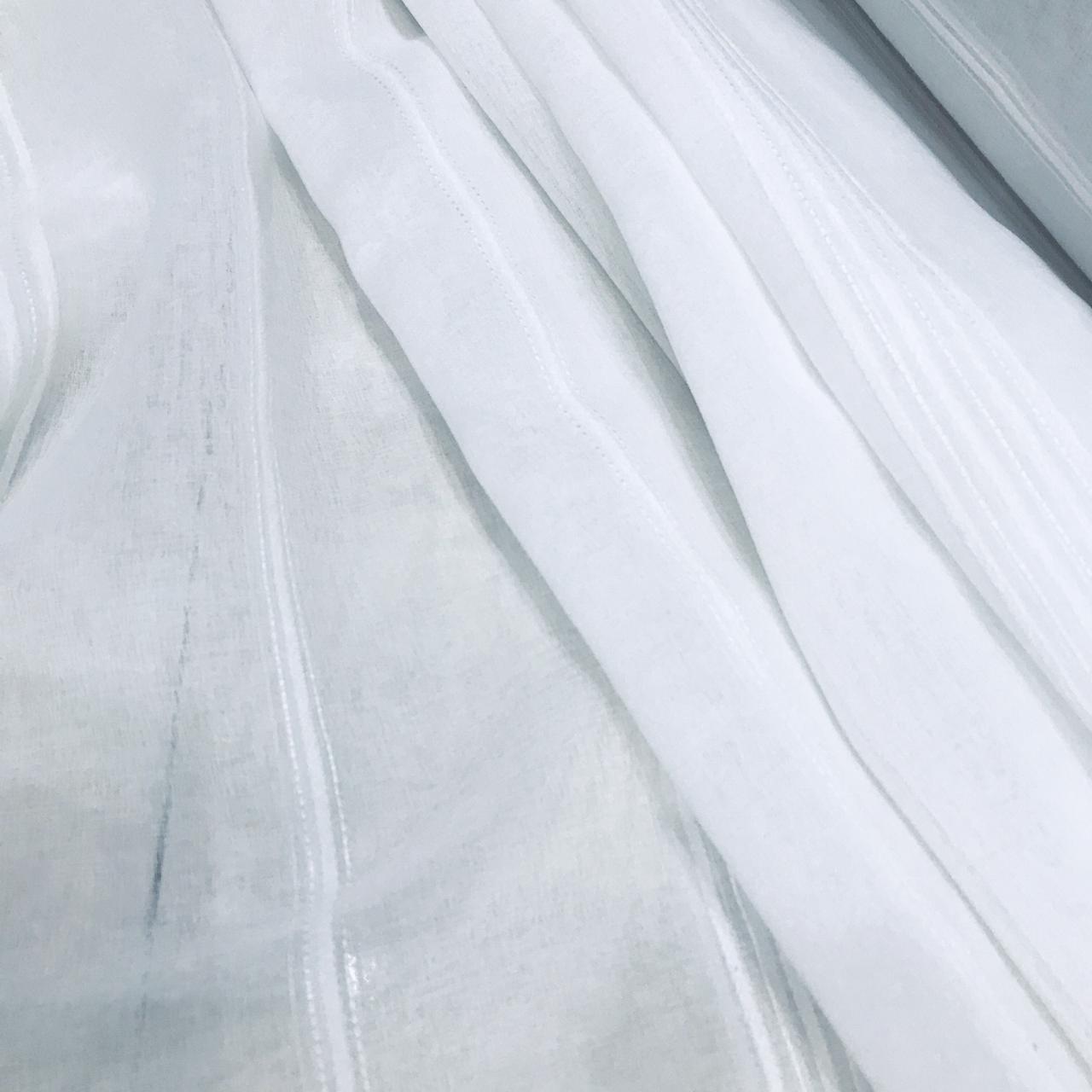 Tecido Voil Branco - 3,00m de Largura