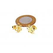 Brinco Pequeno Feminino Banhado a Ouro Flor Margarida