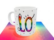Caneca Love Cores LGBTQI+ Dia Namorados Cerâmica