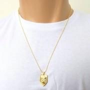 Cordão Corrente Bolinhas Banhada Ouro 18k São Jorge