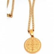 Corrente Cordão Banhado ouro 18k Groumet Ping São Bento