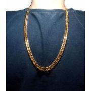 Corrente Cordão Banhado ouro 18k Malha Groumet 70cm 7mm