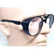 Óculos de Grau Armação Alok Redondo Steampunk Retrô