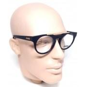 Óculos de Grau Armação Evoke Upper III A01 Preto Unissex
