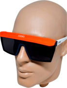 Óculos de Sol Evoke Futurah db01 Branco Aba Laranja
