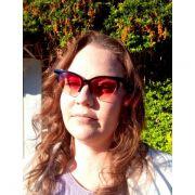 Óculos De Sol Feminino Blogstar Lova Preto Lente Vermelha