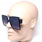 Óculos De Sol Feminino Degradê Cinza Lova Jussara Preto Luxo