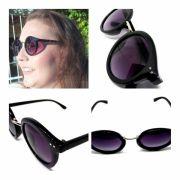 Óculos De Sol Feminino Elegante Femme Fatale Lova Preto