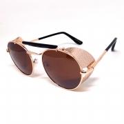 Óculos De Sol Steampunk Metal Rosê Lova Darwin