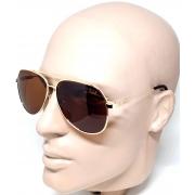 Óculos Polarizado De Sol Masculino Dourado Oct Lova