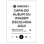 Quadro Placa Decorativa Spotify Música Personalizado 20x28