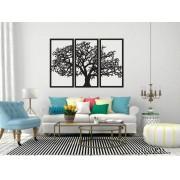 Quadro sala de estar Triplo MDF 3mm Árvore da Vida