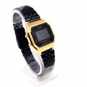 Relógio Casio Digital Bicolor Dourado Preto LA680W Mini