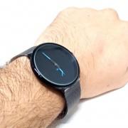 Relógio Masculino Social Preto Aço Khorasan Lova
