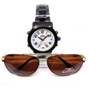 Combo Relógio Weide Wh1105 + Óculos De Sol Lova Oct