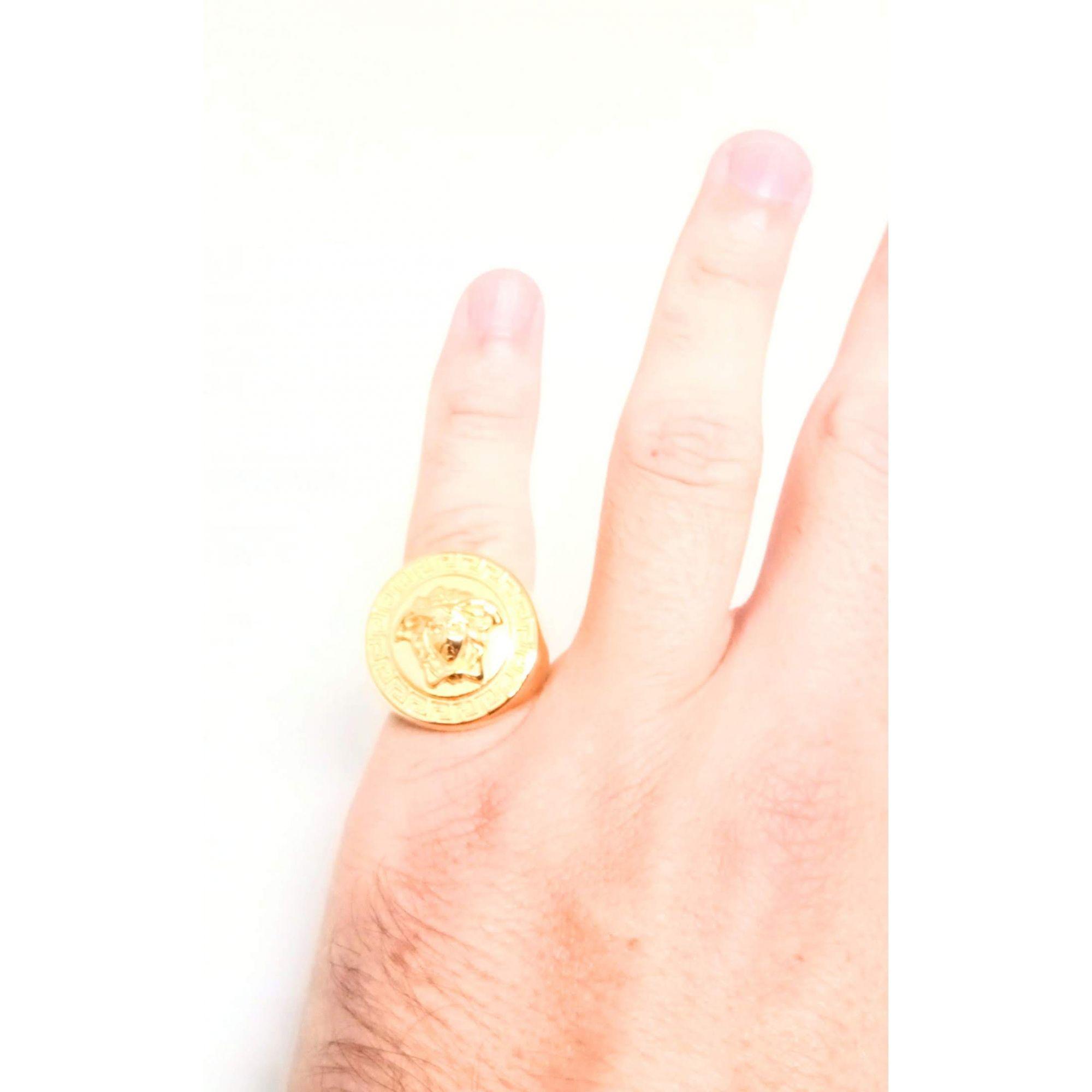 Anel Dedeira Medusa Banhado ouro 18k Aço Cirúrgico