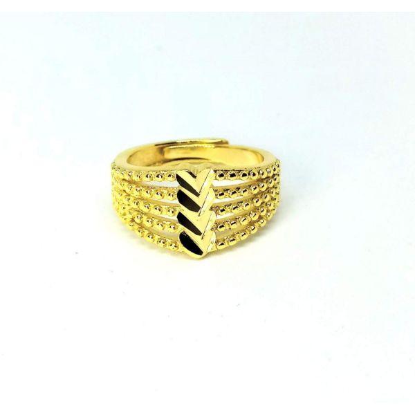 Anel Feminino 4 Corações Banhado Ouro 18k Dourado