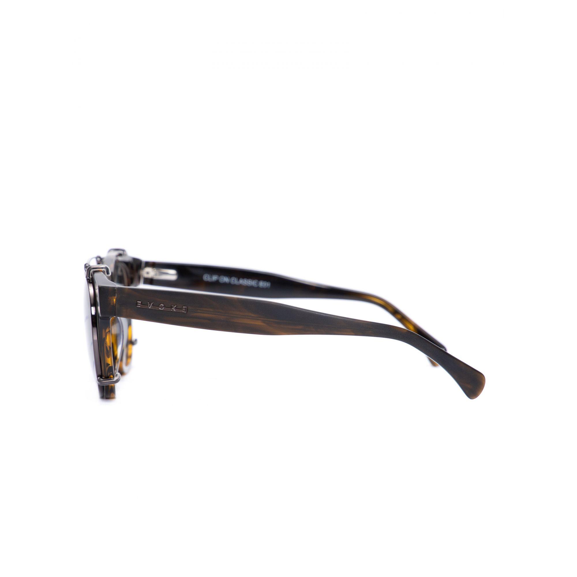 Armação Clipon Óculos Clipon Evoke Clip on Classic E01 Demi