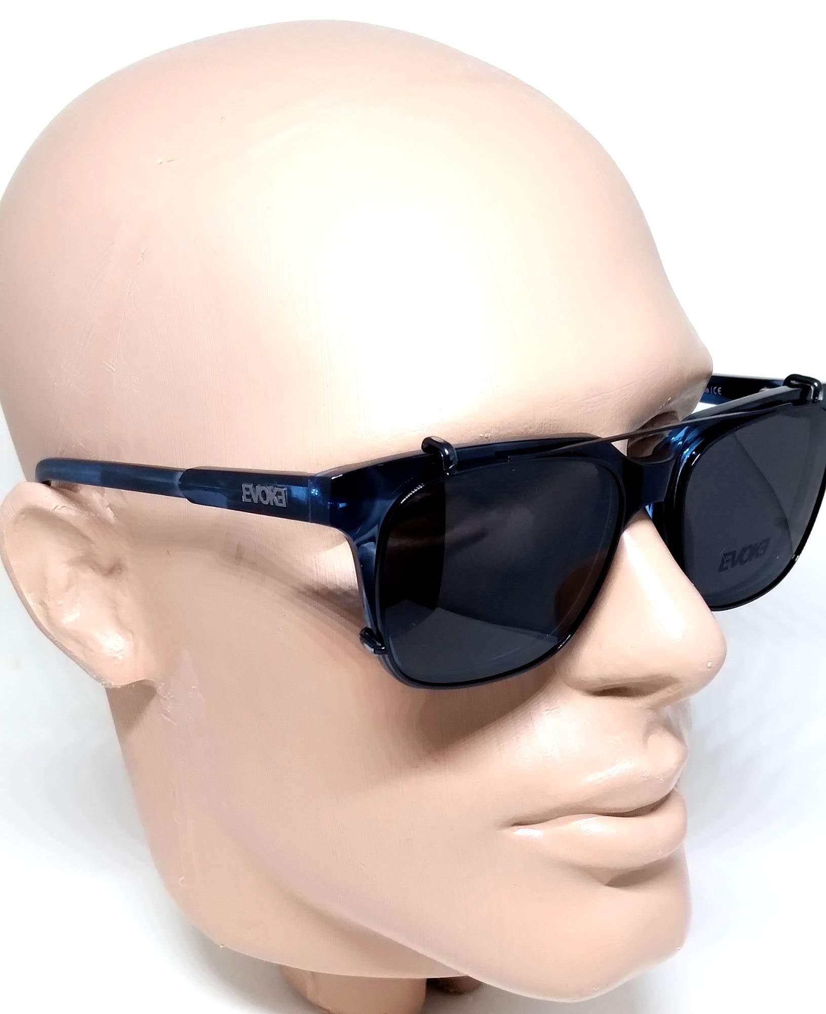 Armação Clipon Óculos Clipon Evoke Clip on Square Azul E01