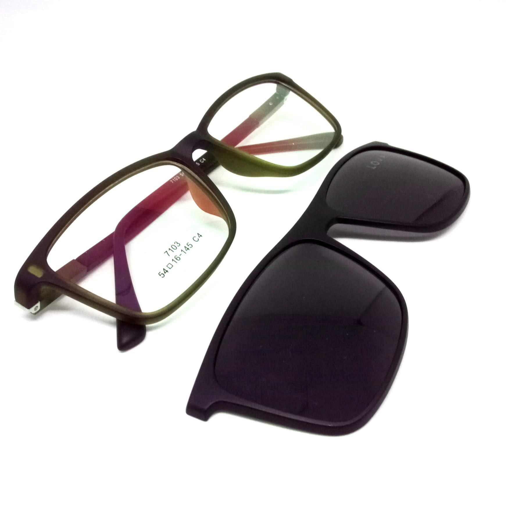 Armação Clipon Óculos de Grau Acetato Marrom Lova
