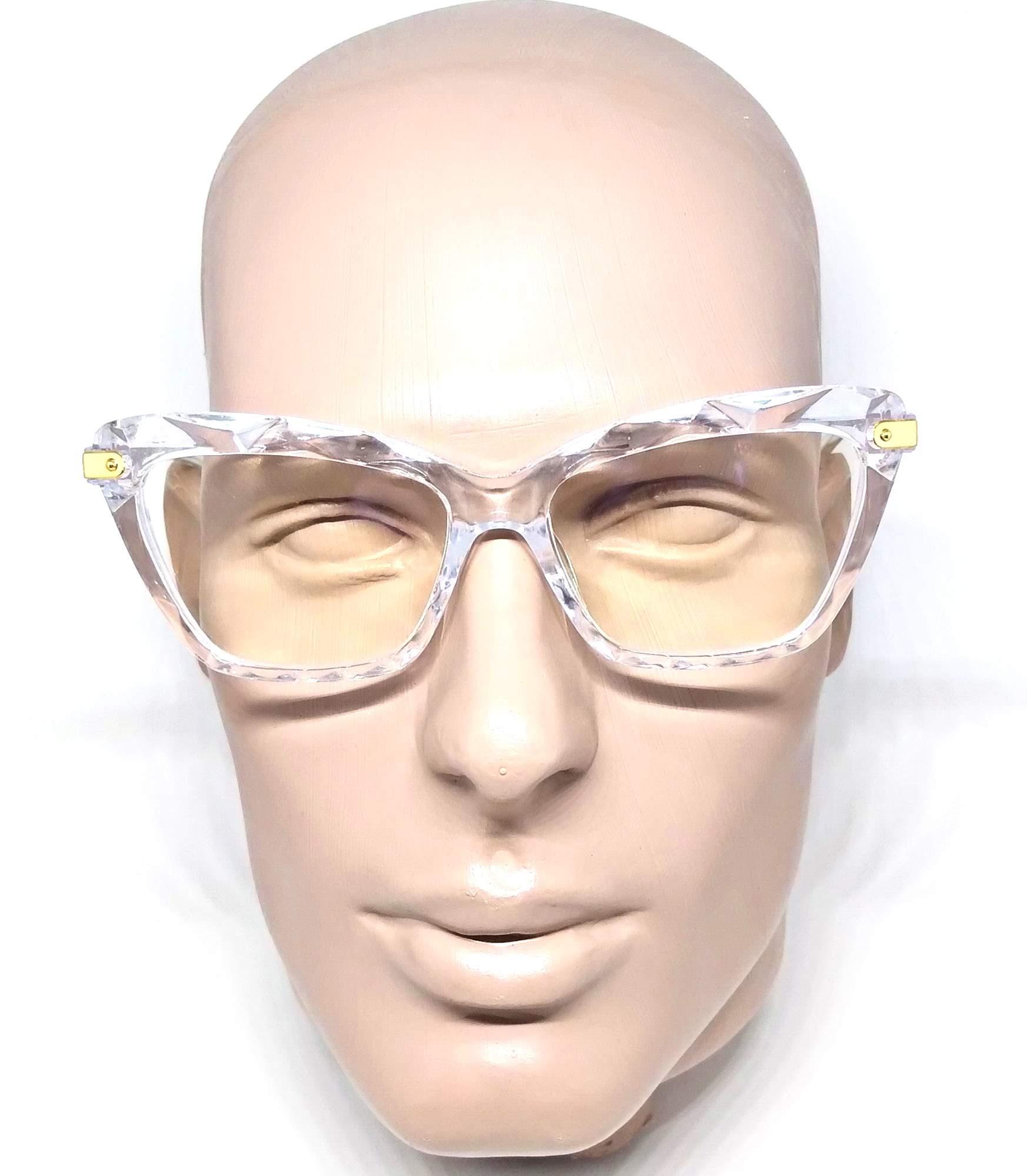 Armação Óculos De Grau Feminino Transparente Gatinho Cristal