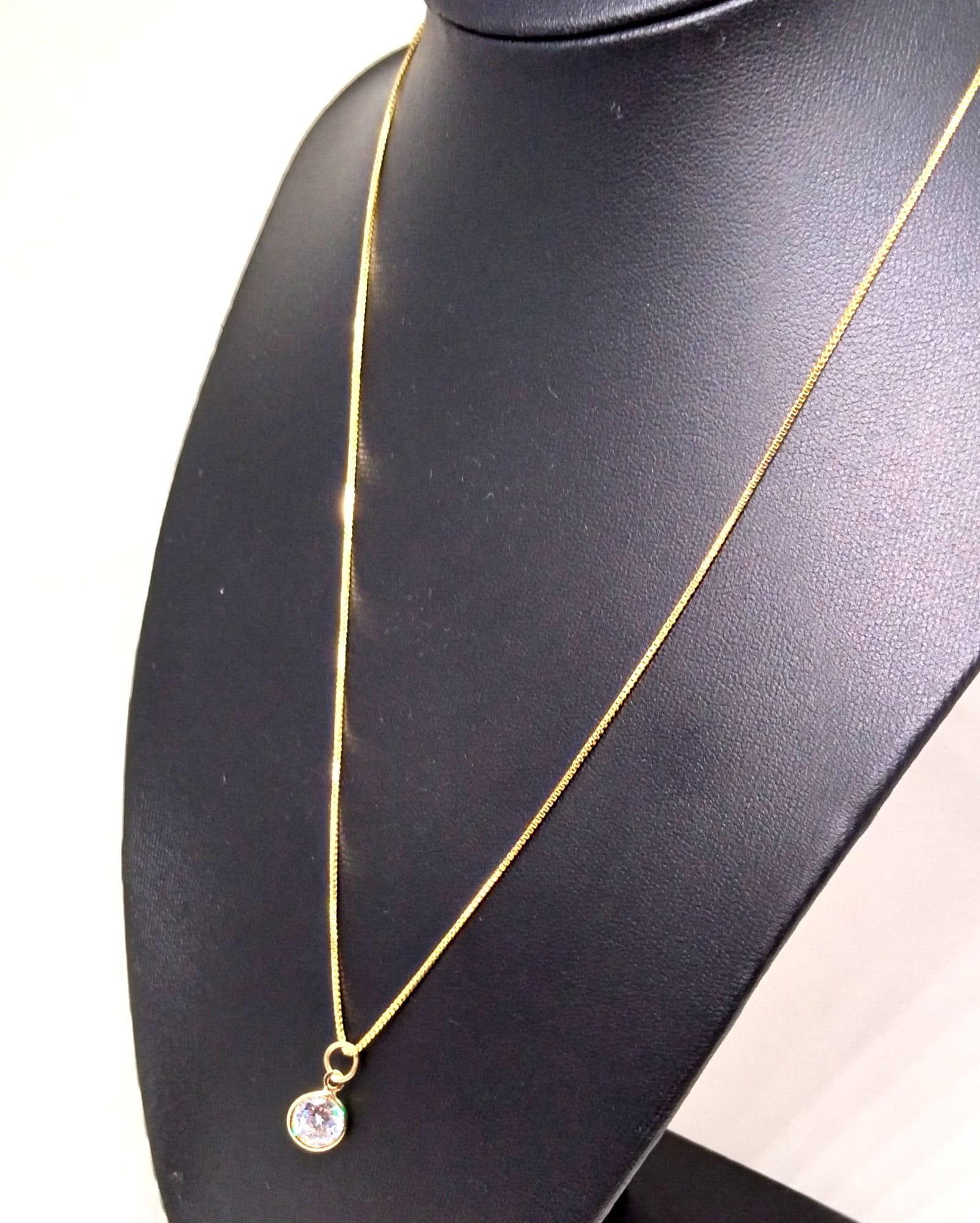 Colar Corrente Ponto de Luz Banhada ouro 18k
