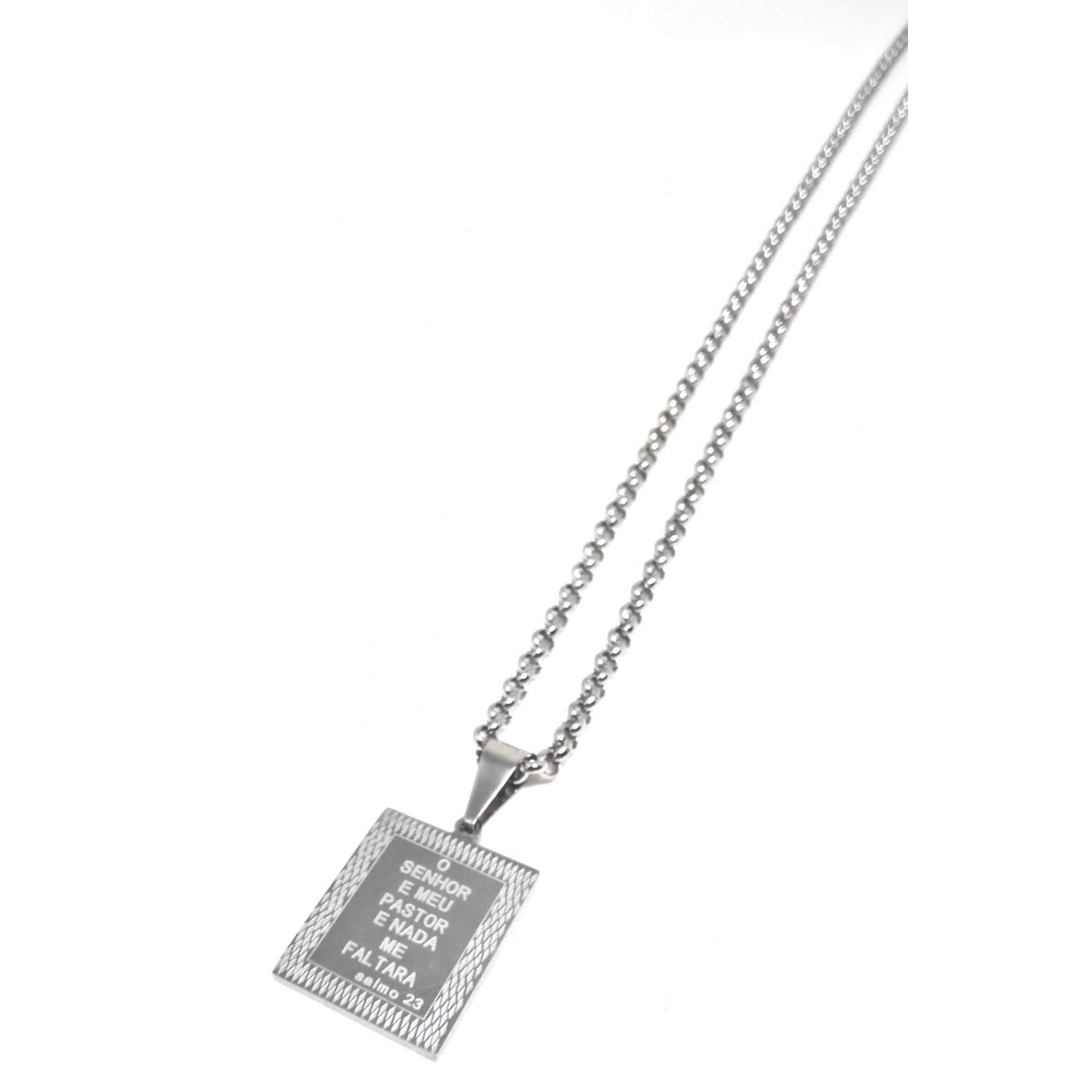 Cordão Corrente Aço Cirúrgico 316L 4mm Elo Português Placa