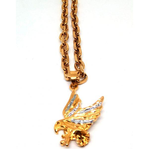 Corrente Cordão Banhado ouro 18k Ping Águia