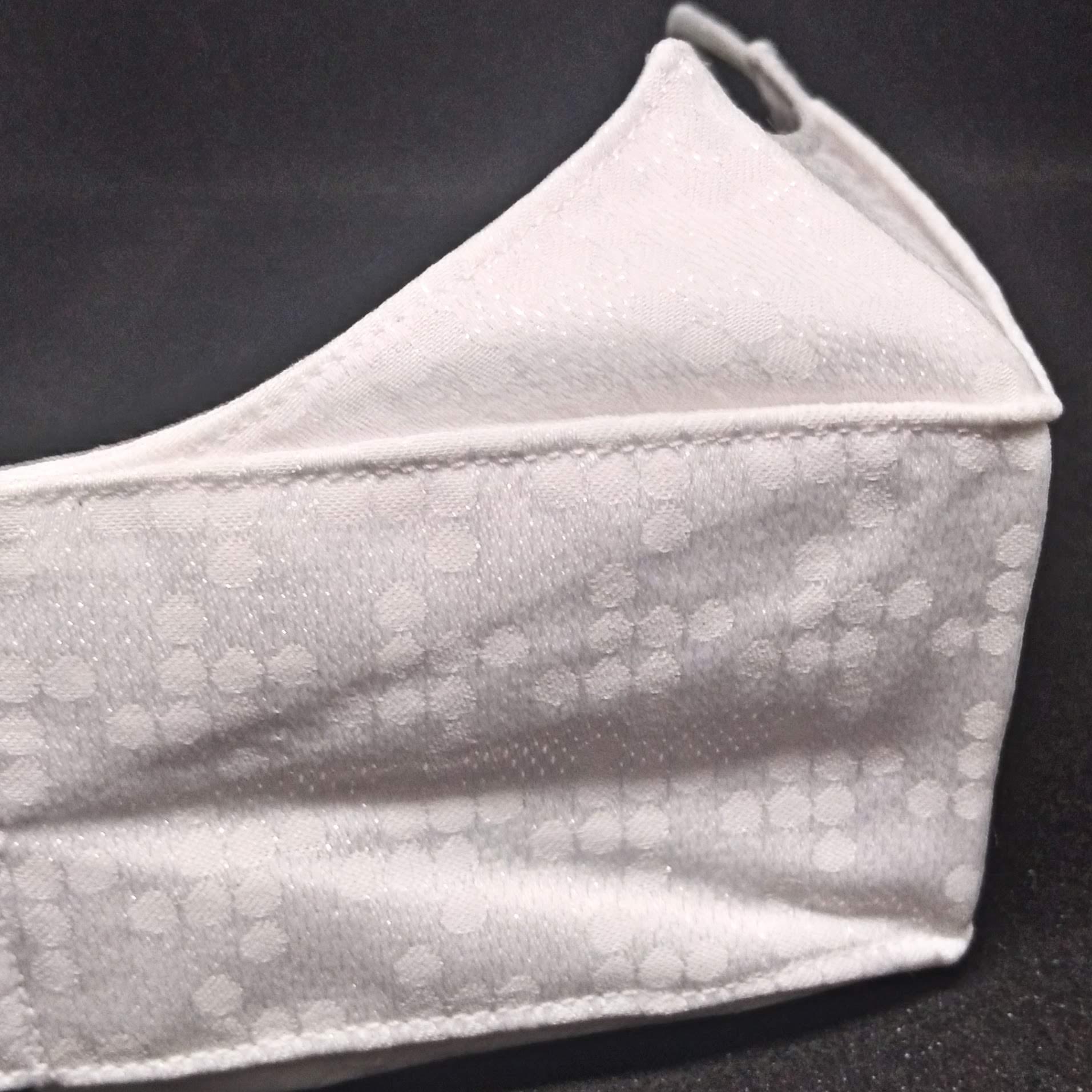 Máscara 3D Algodão Branca Brilho Luxo Pixel Lavável