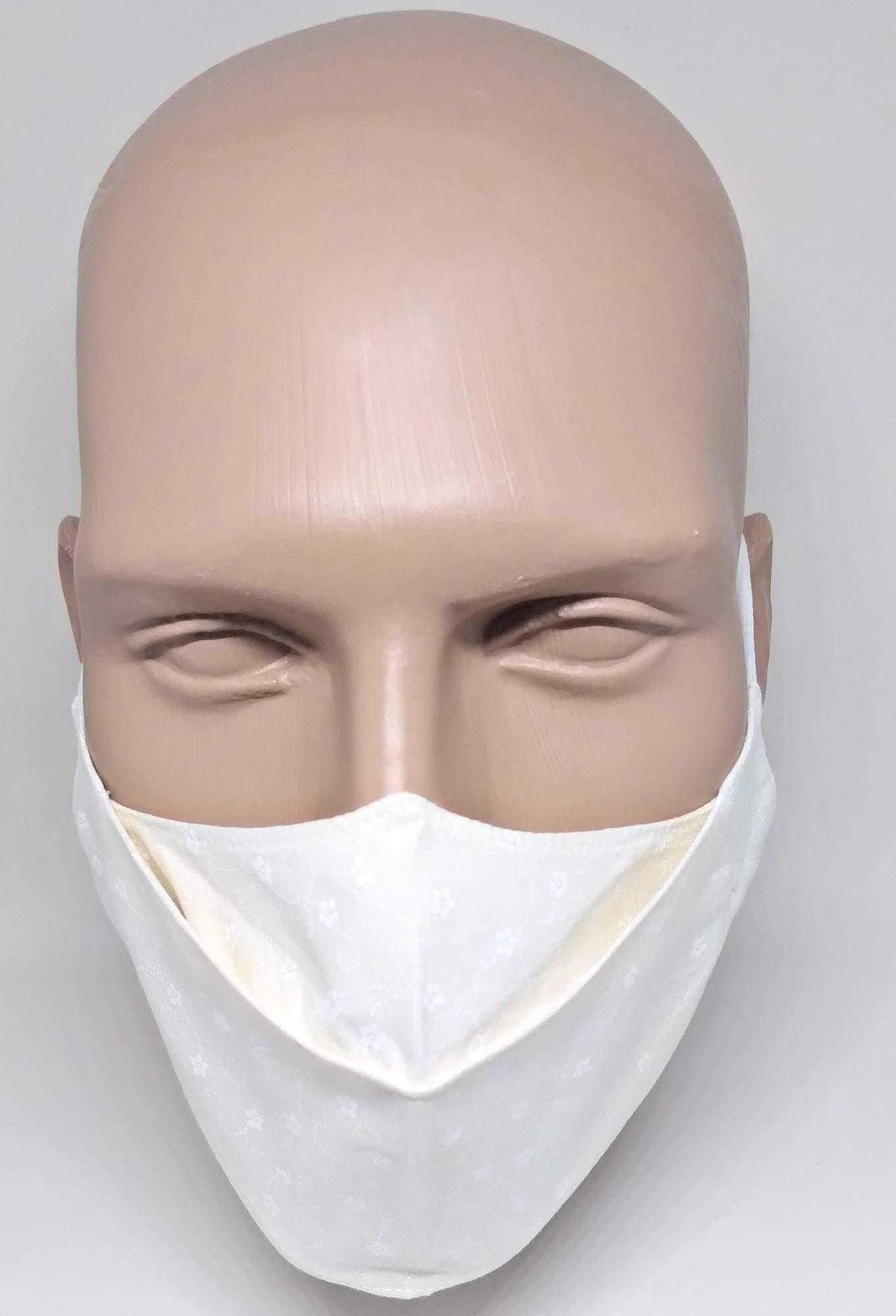 Máscara 3D Algodão Off White Ramos Brancos