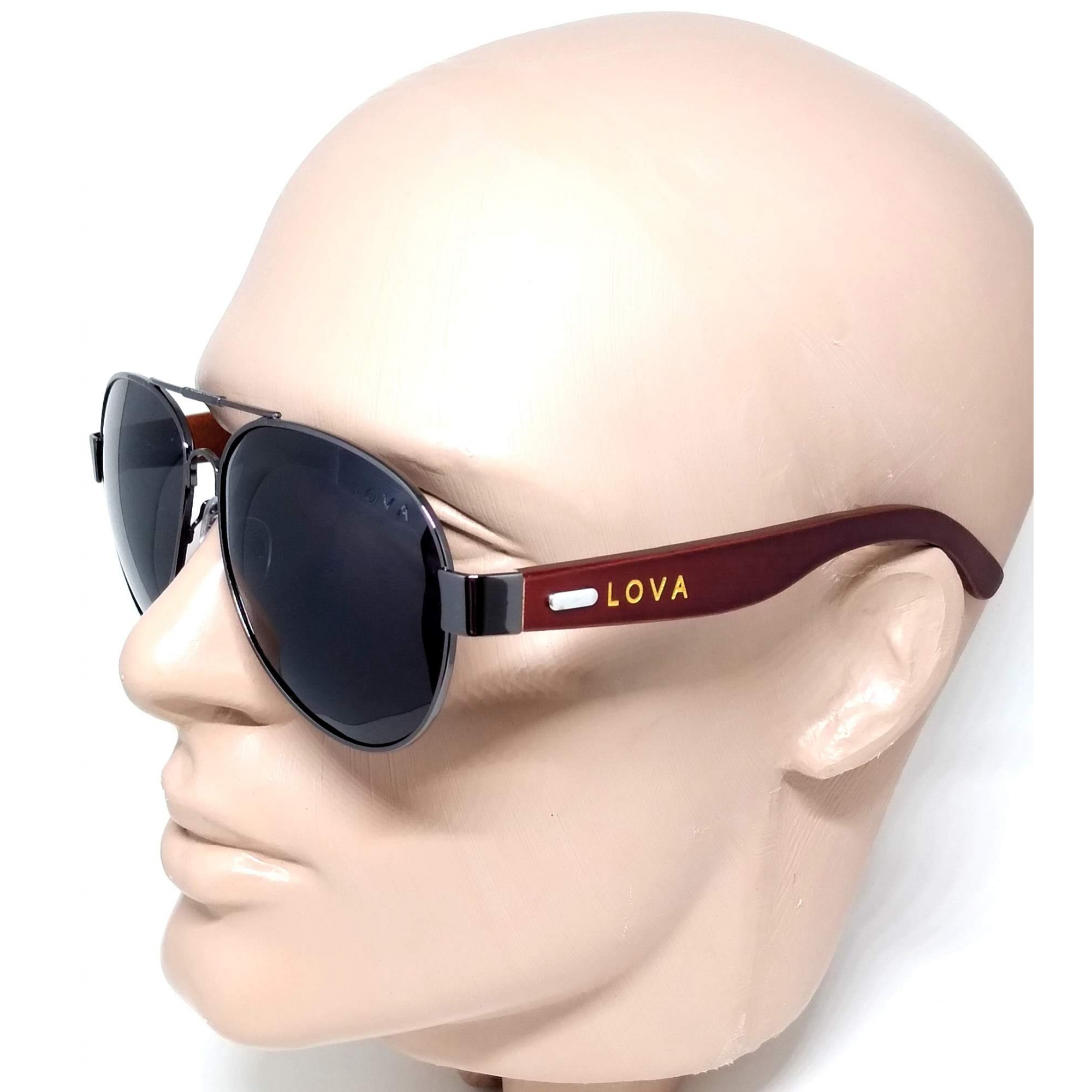 Óculos De Sol Aviador Polarizado Madeira Lova Pierce