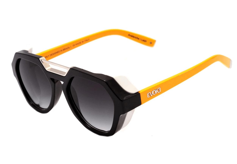 Óculos de Sol Evoke Avalanche Amarelo Preto Branco la01