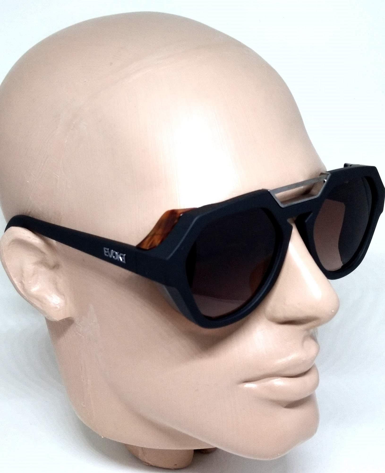 Óculos de Sol Evoke Avalanche Preto Amadeirado Degradê WD01