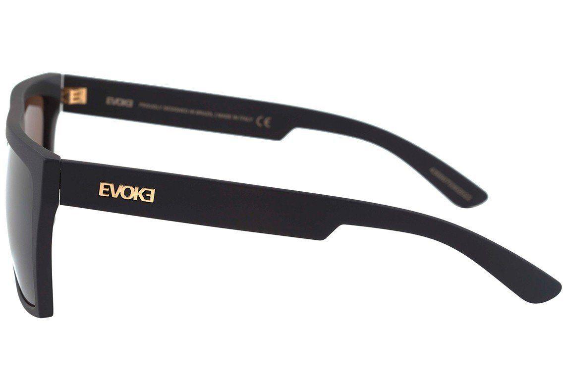 Óculos de Sol Evoke EVK15 Preto Fosco Lentes Marrom NA01G