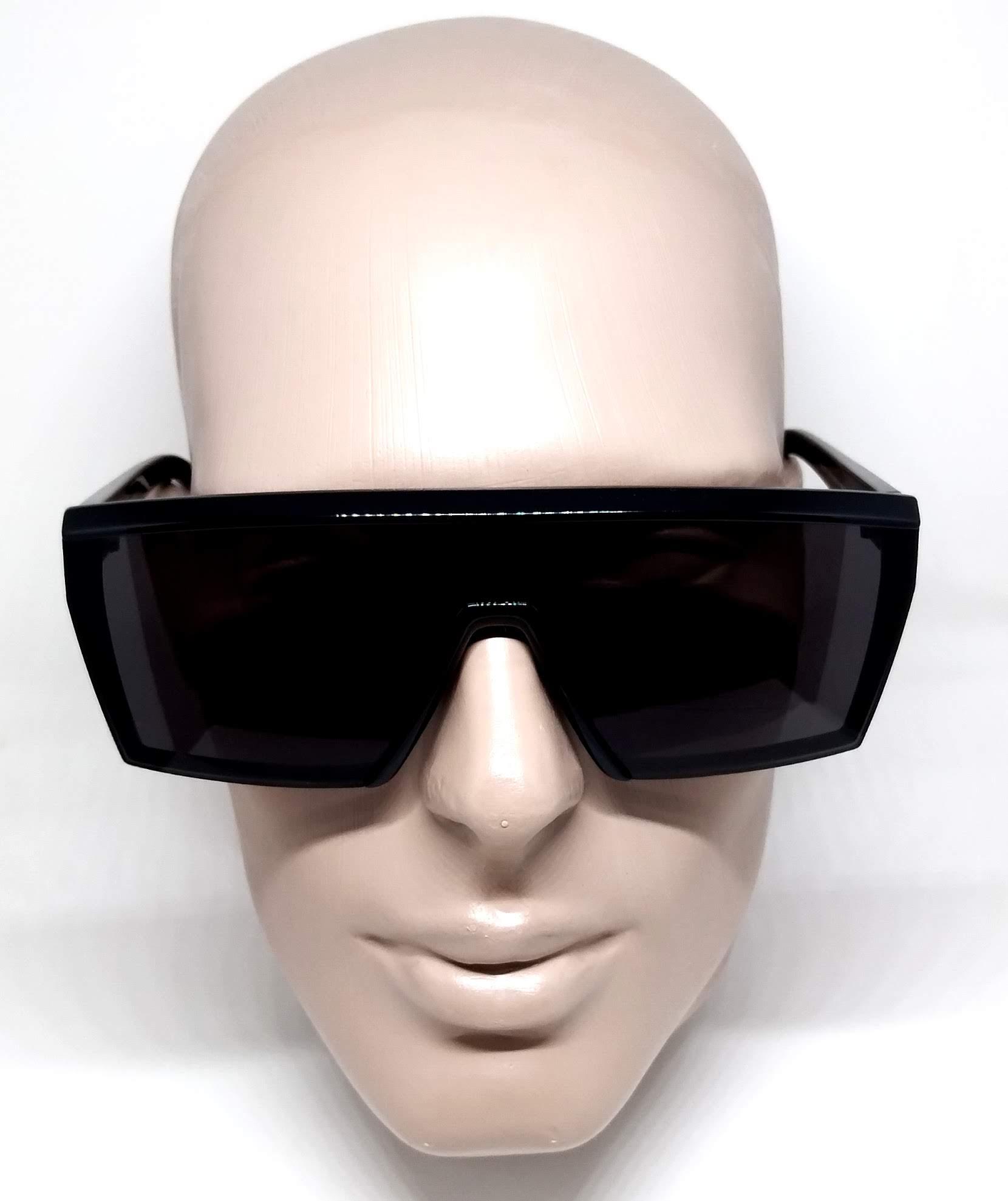 Óculos de Sol Evoke Futurah Unico Preto A05 Black Shine