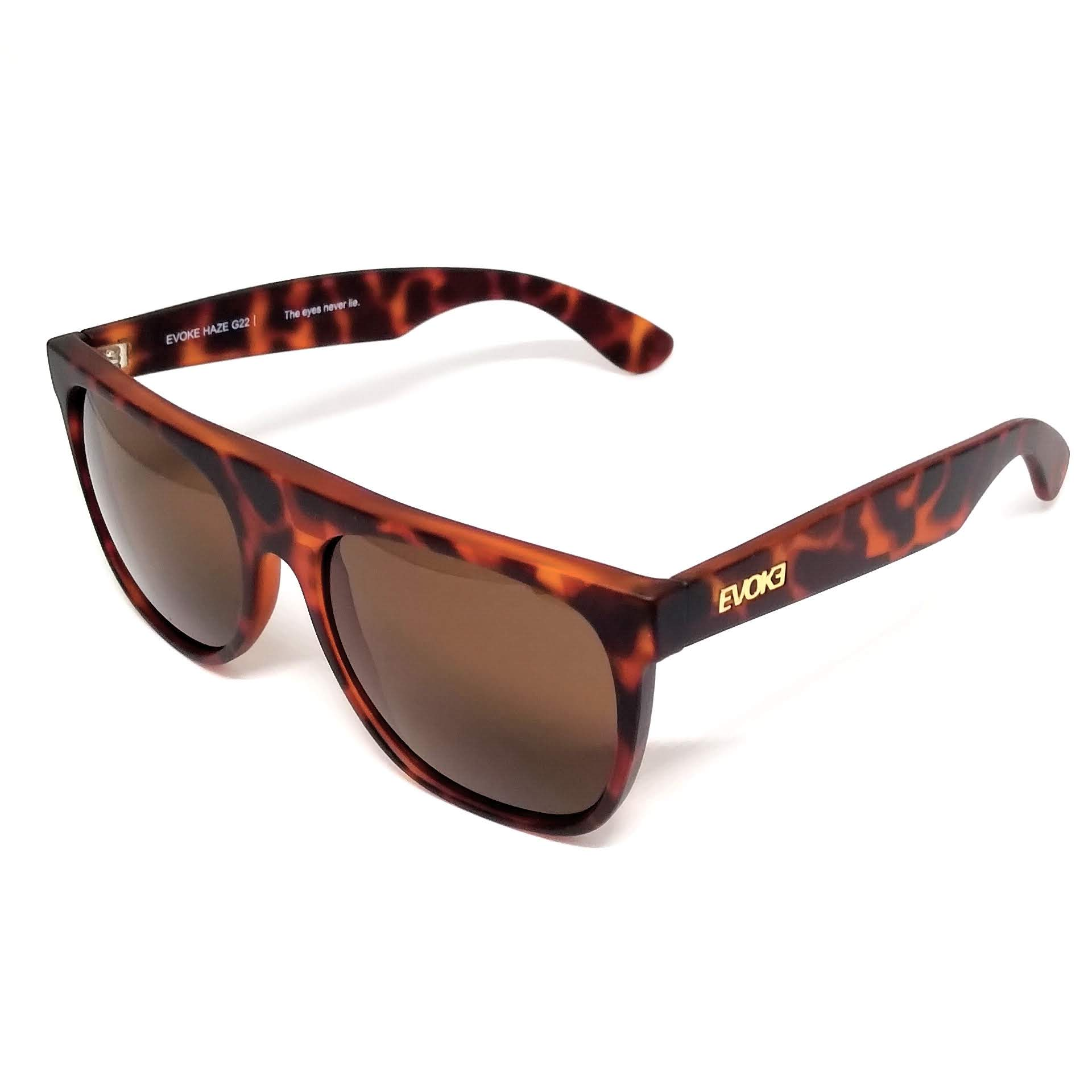 Óculos de Sol Evoke Haze g22 Turtle Demi Marrom Gold