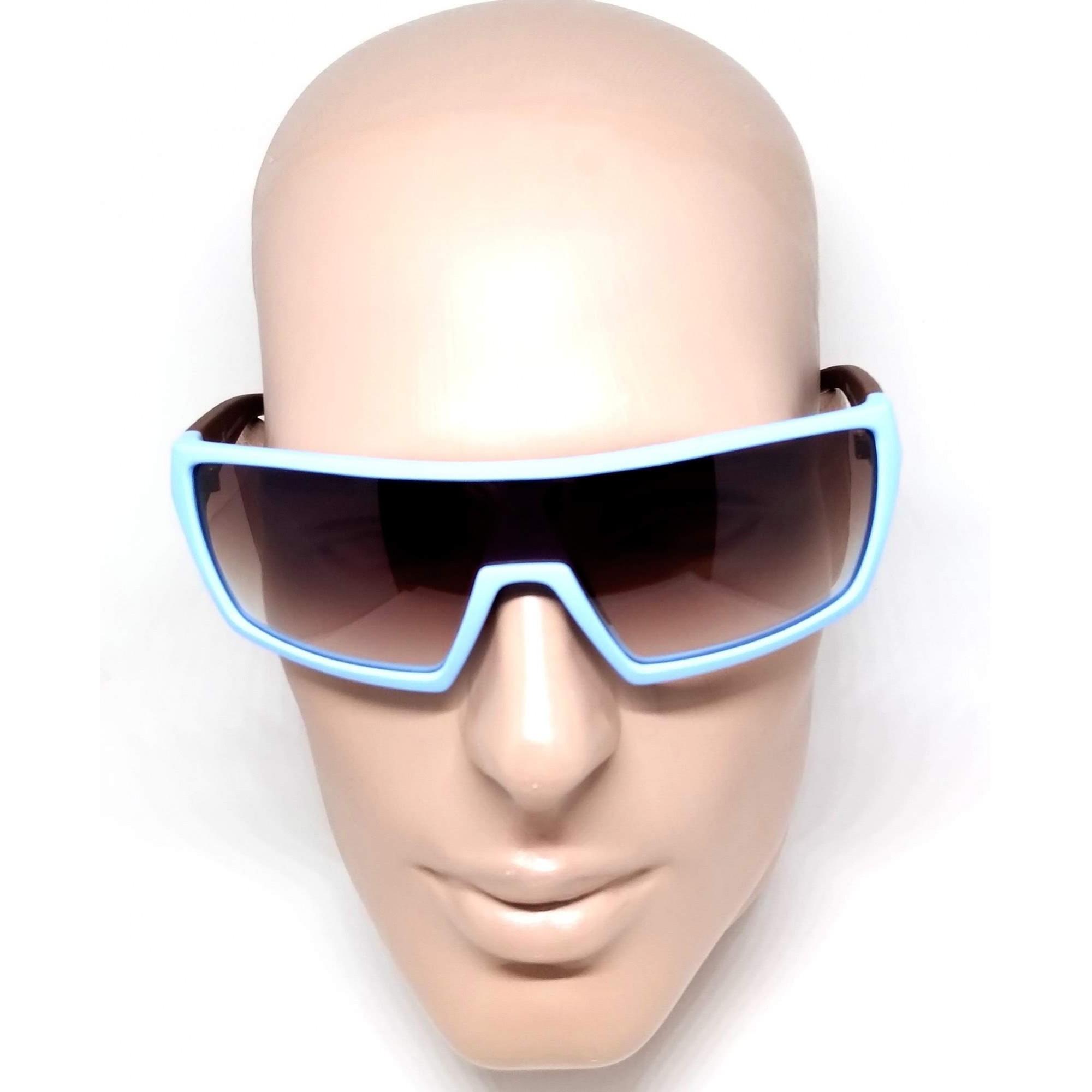 Óculos de Sol Evoke Masculino Bionic Beta D04T Azul Marrom