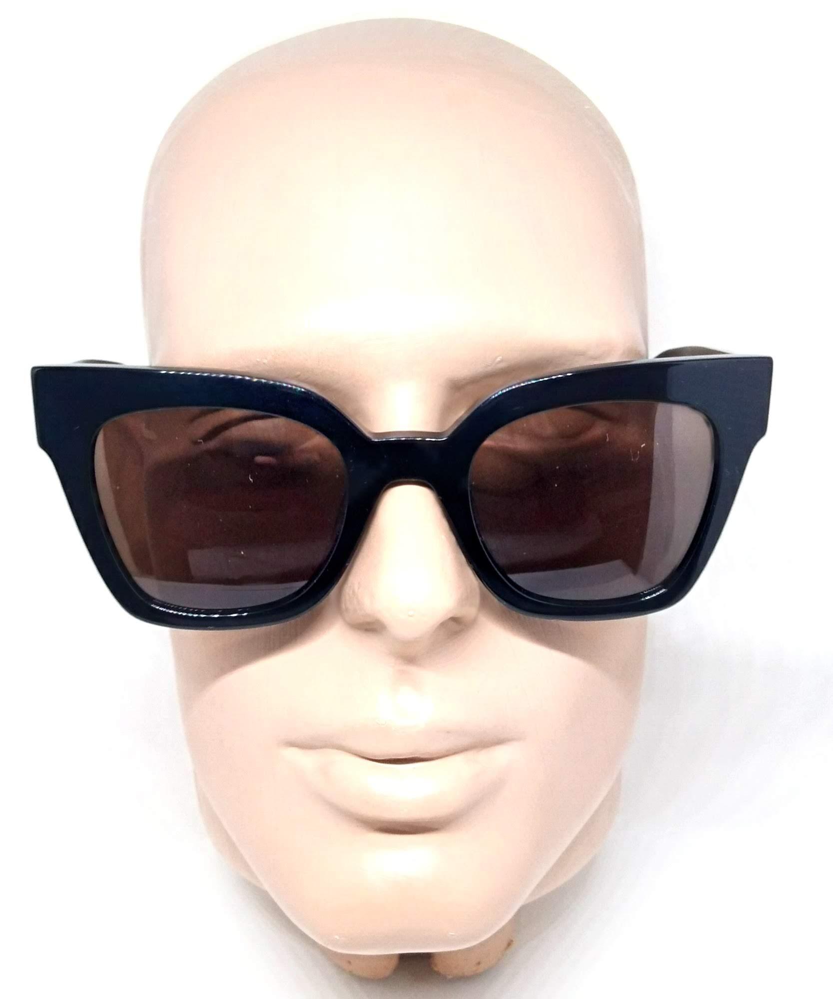 Óculos de Sol Evoke Sweet Poison Preto Lentes Marrom A01