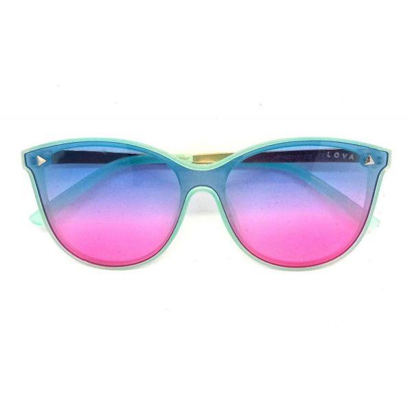 Óculos De Sol Feminino Colorido Chiclé Degradê Sweetie Lova Azul
