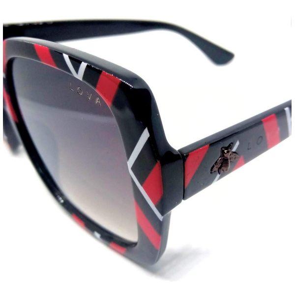 Óculos De Sol Feminino Estampado Beelove Lova Vermelho