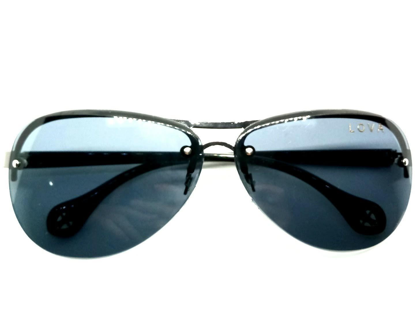 Óculos De Sol Feminino Grande Aviador Coração Lova
