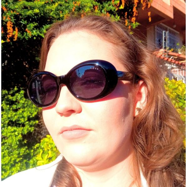 Óculos de Sol Feminino Preto Madam Retrô Lova Preto