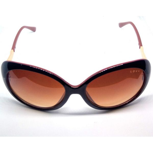 Óculos De Sol Feminino Sandlove Lova Marrom Dourado