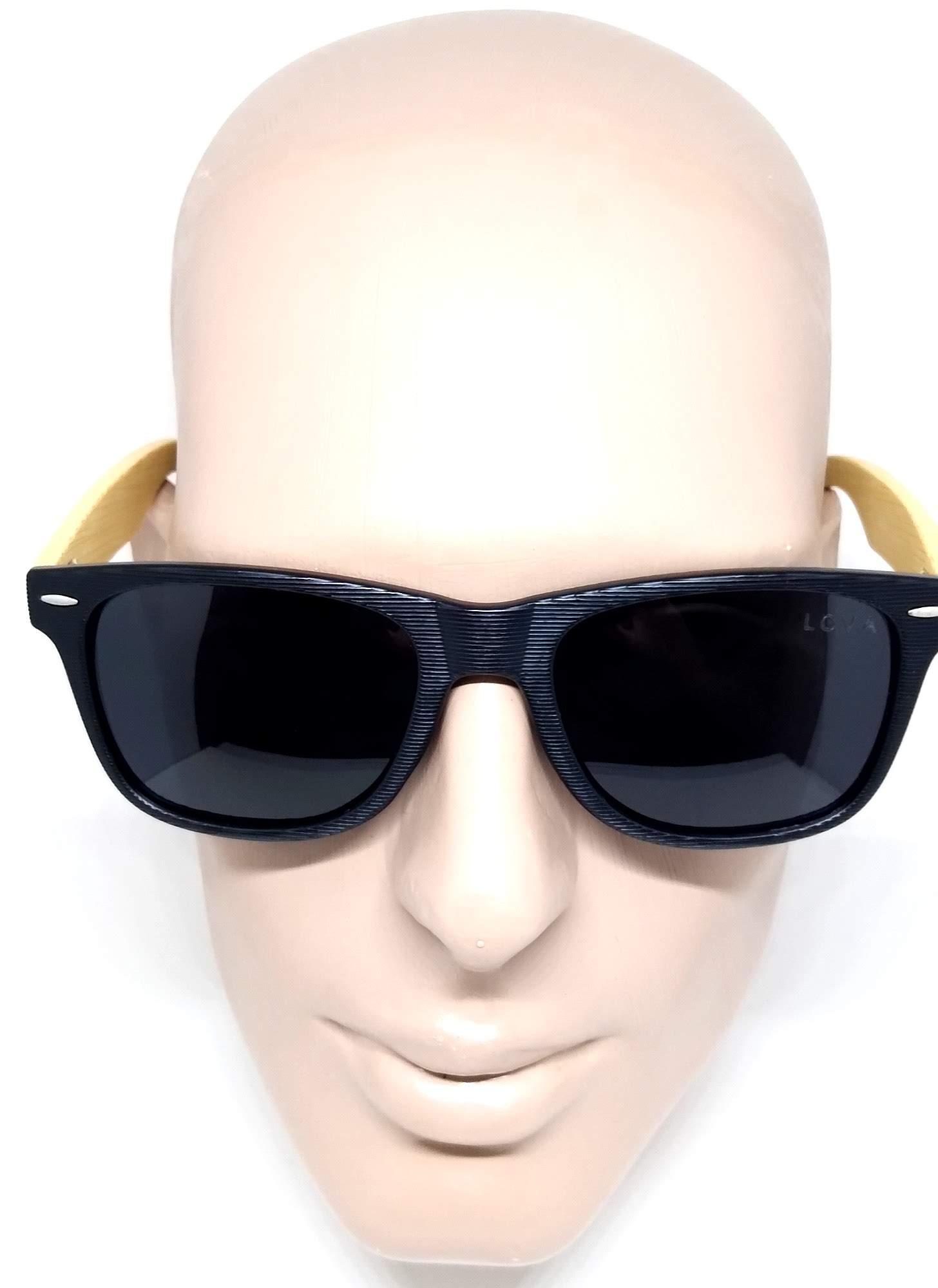 Óculos De Sol Madeira Polarizado Texturizado Lova Greg