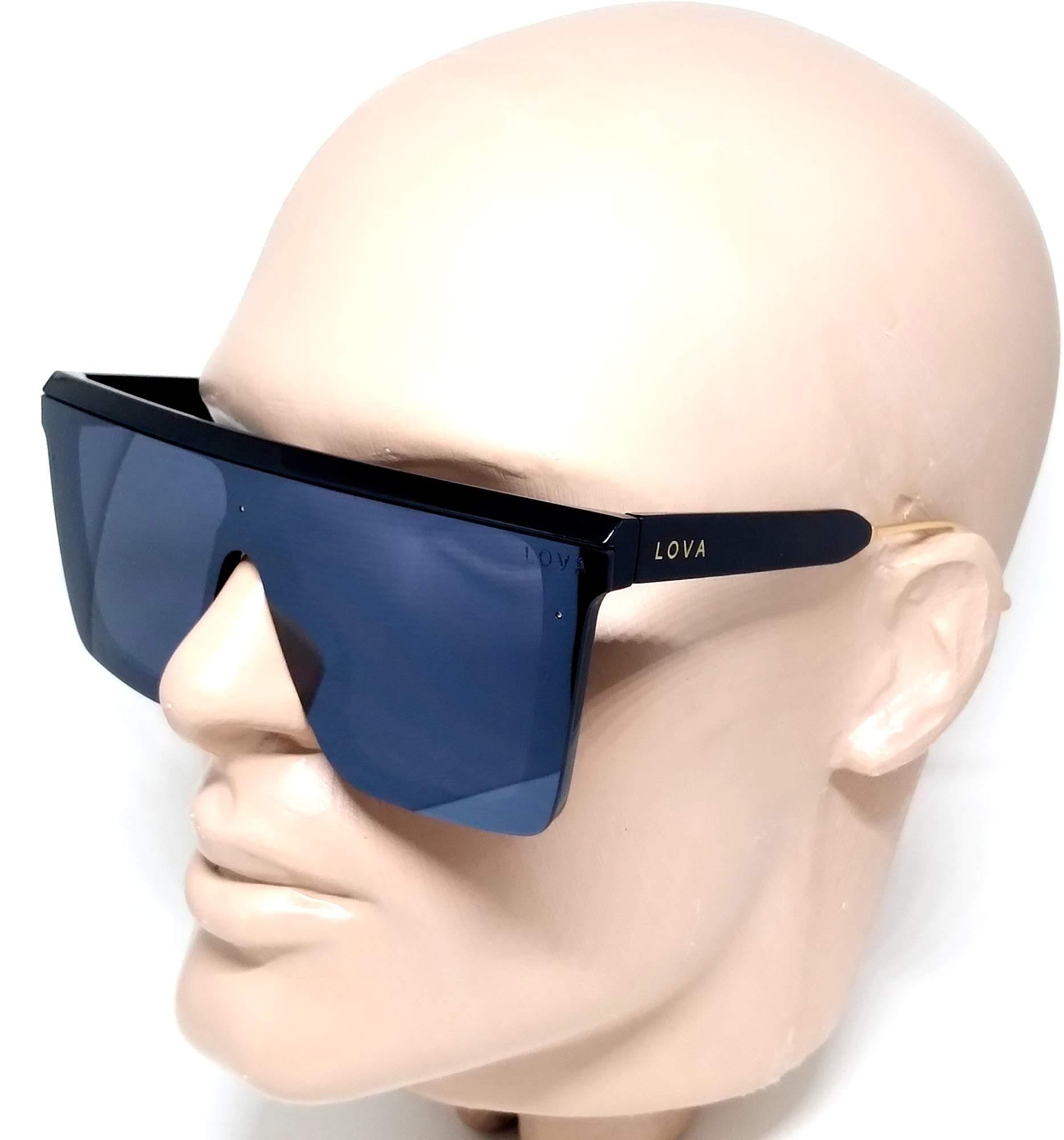 Óculos De Sol Máscara Feminino Grande Luxo Lova Stella