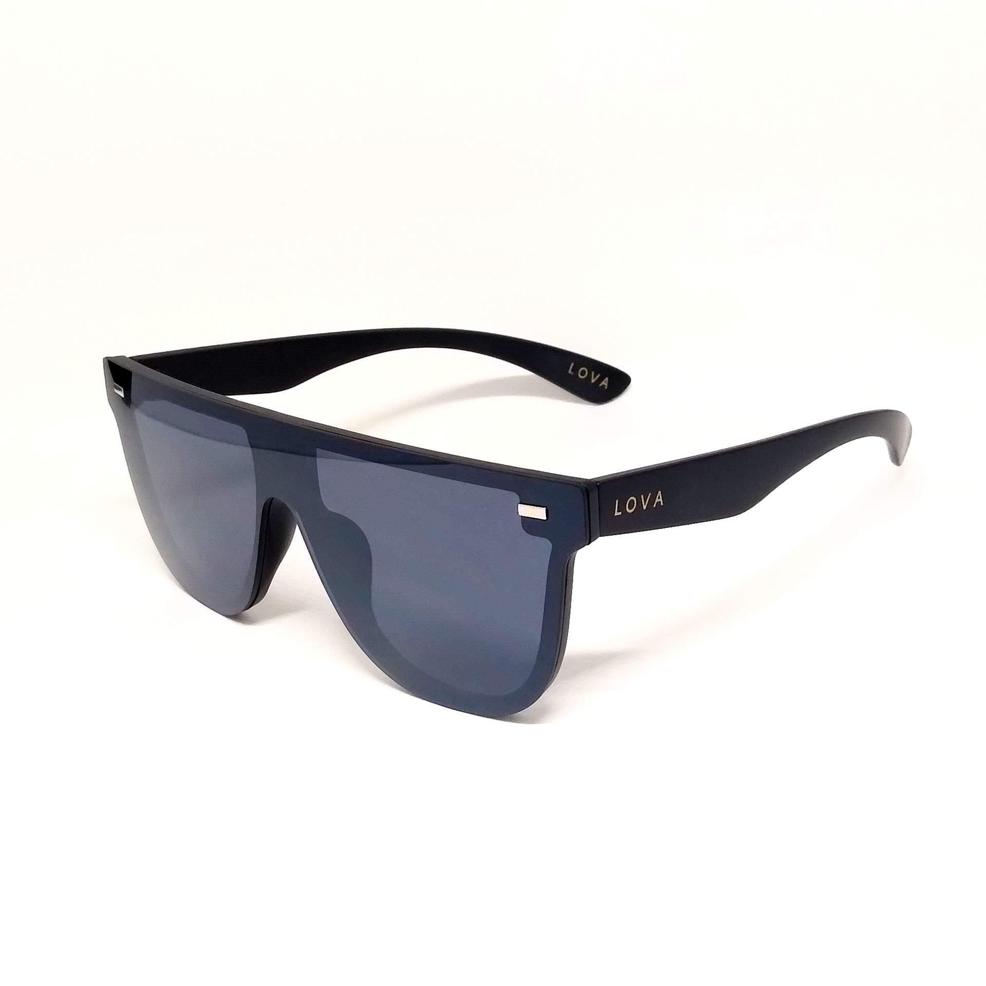 Óculos De Sol Máscara Lova Jordan Preto Luxo Espelhado