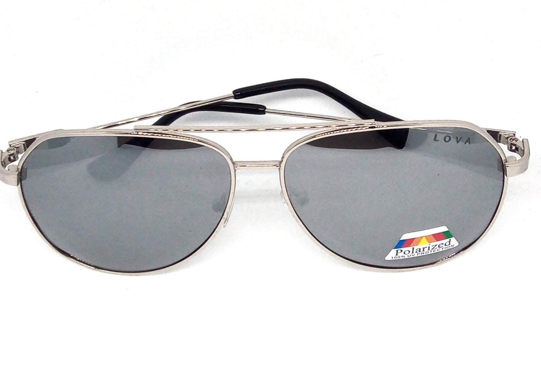 Óculos De Sol Masculino Aviador Metal Classic Lova Prata